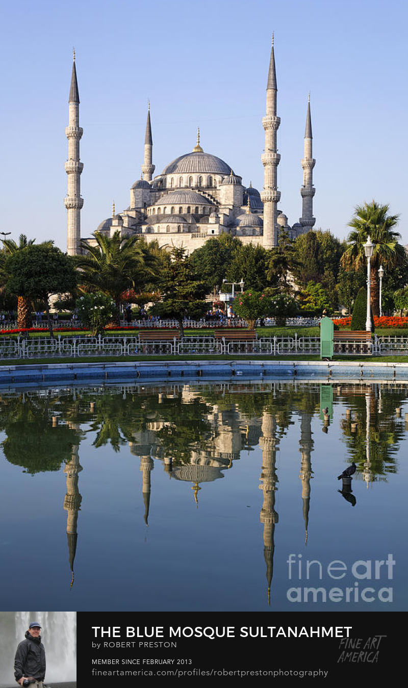 Blue Mosque reflection Istanbul