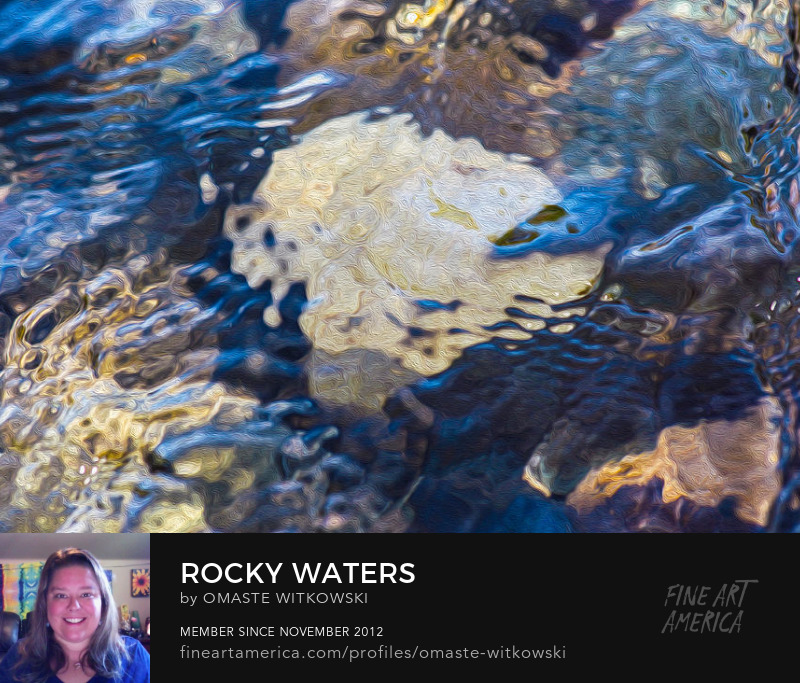 Rocky Waters Abstract Photgraphy Art Prints