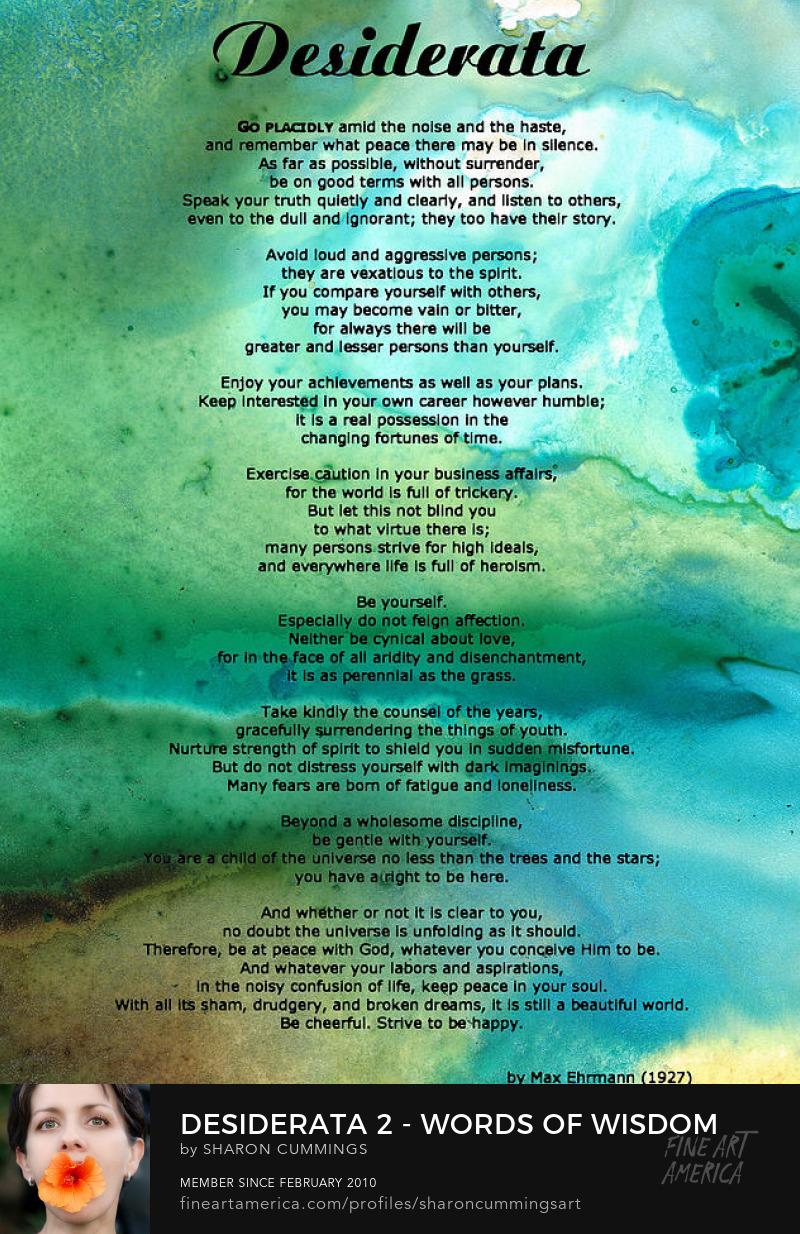 Desiderata Poem Prints Art Framed