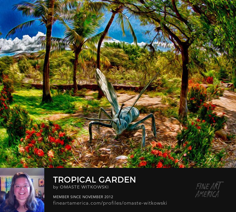 Tropical Garden Hawaii Photography Prints