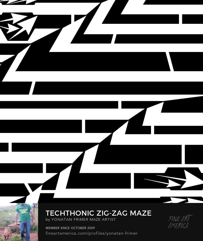 maze op art zig zag Techtonic zig zag maze