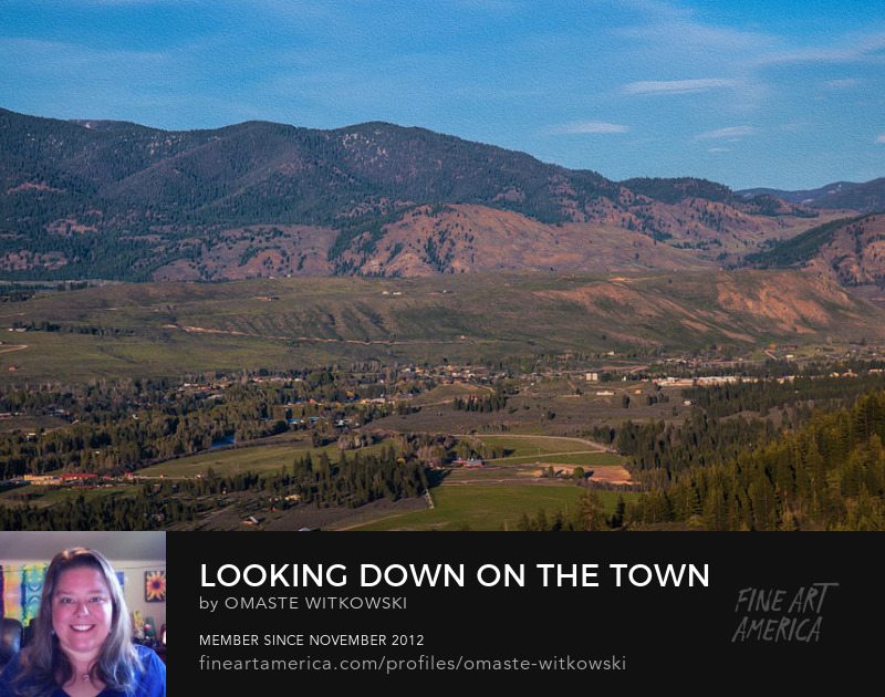 Looking Down On The Town Of Winthrop Washington Methow Valley