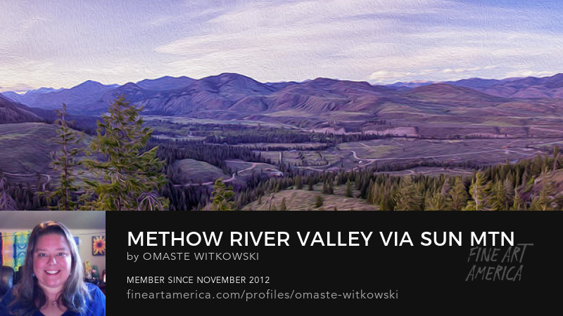 Methow River Valley Via Sun Mtn Lodge Panorama
