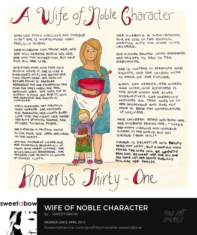 Wife of Noble Character - Proverbs 31