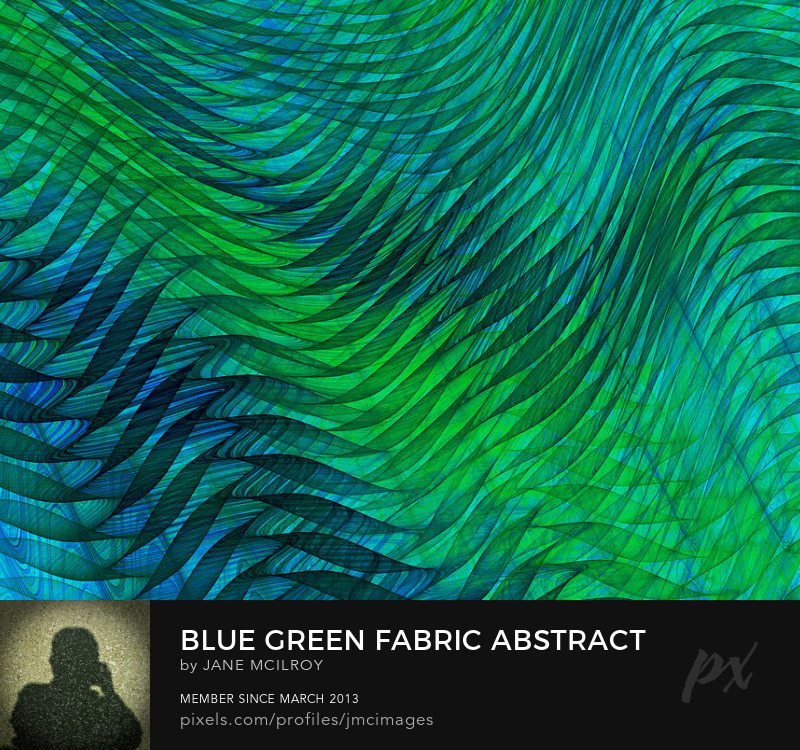 Blue Green Fabric Abstract