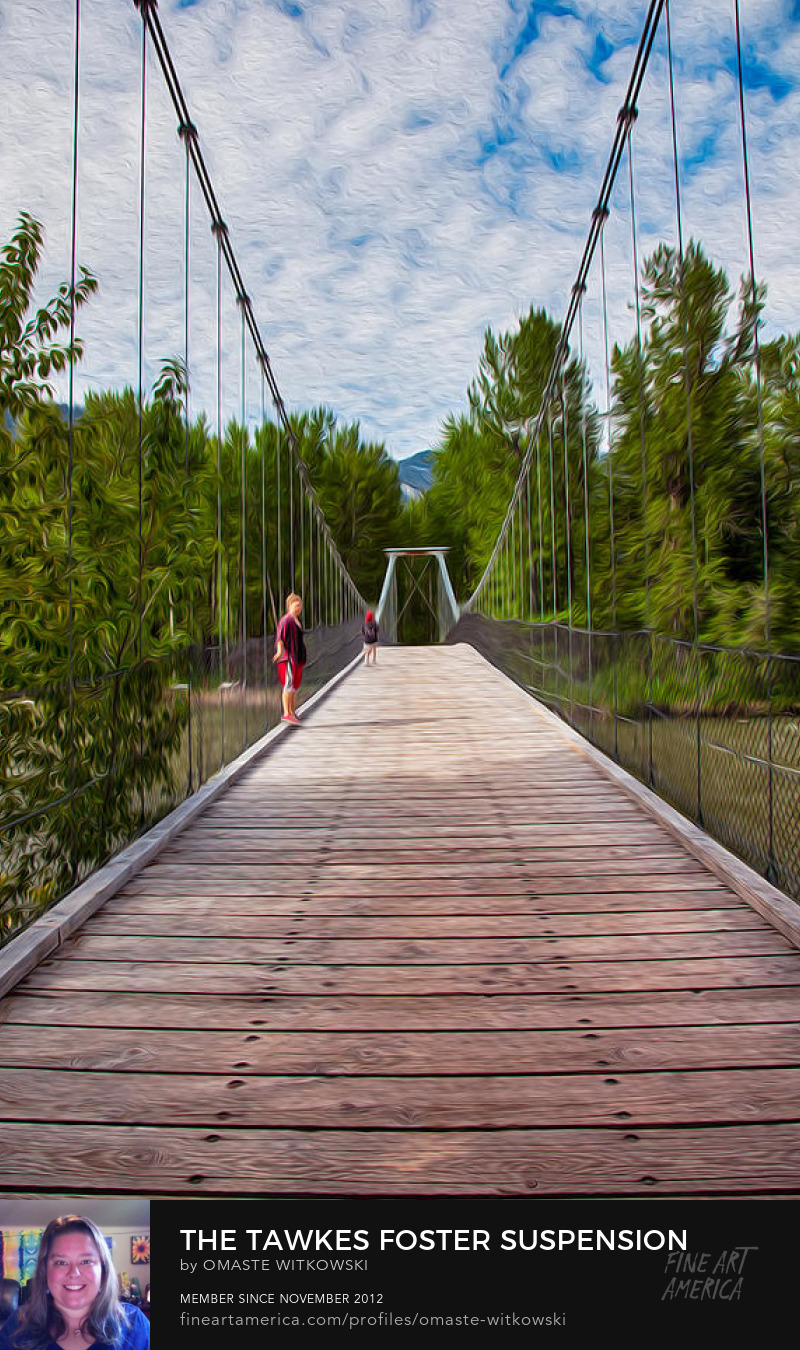 The Tawkes Foster Suspension Bridge Methow Valley Trails