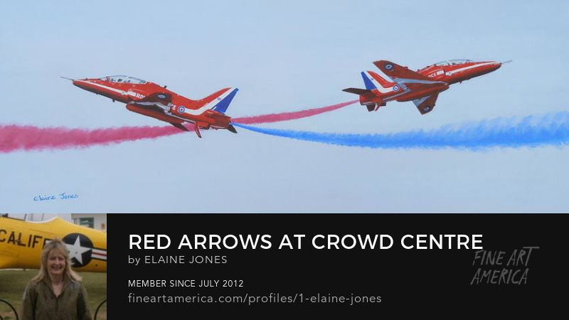 Red Arrows oil painting by Elaine Jones