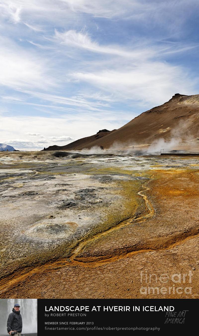 Hverir landscape Iceland