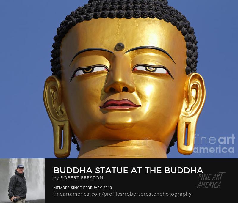 Golden Buddha statue Kathmandu Nepal