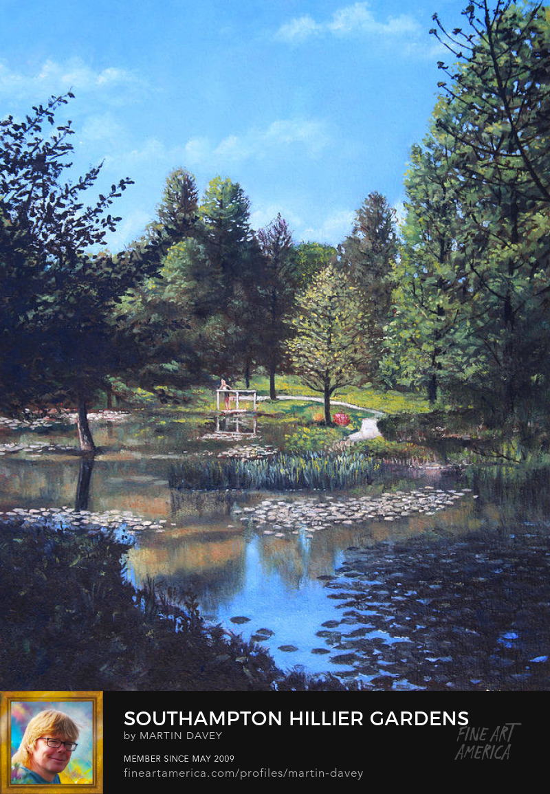 Southampton Hillier Gardens Late Summer-oil painting