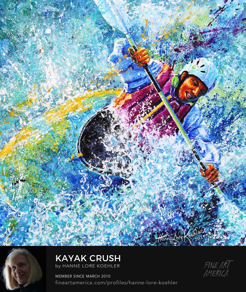 kayaking Painting