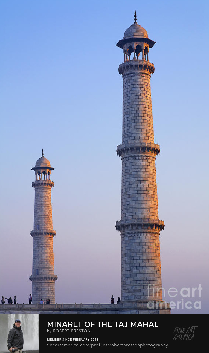Minarets of the Taj Mahal Agra