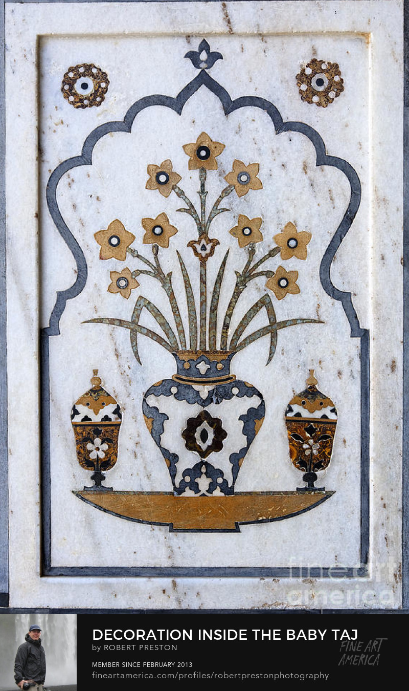 Inlaid stonework at the Baby Taj, Agra