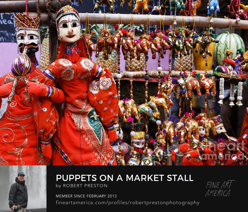 Puppets for sale in Anjuna market