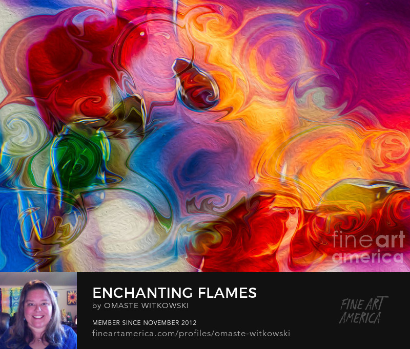 Enchanting Flames Textured Abstracts