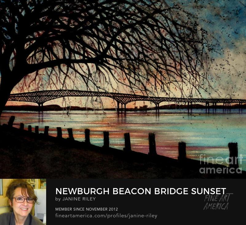 Newburgh Beacon Bridge Sunset J Riley