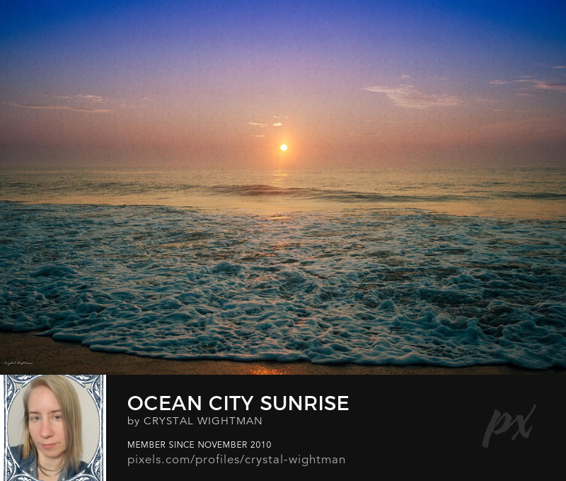 A beautiful landscape sunrise in Ocean City Maryland.