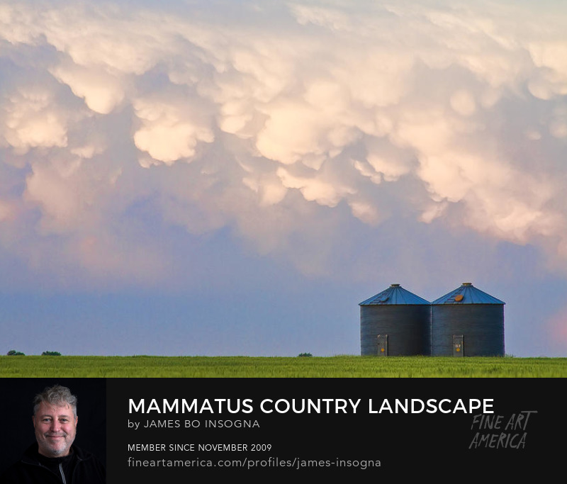 Mammatus Clouds Country Landscape Sky Art Prints