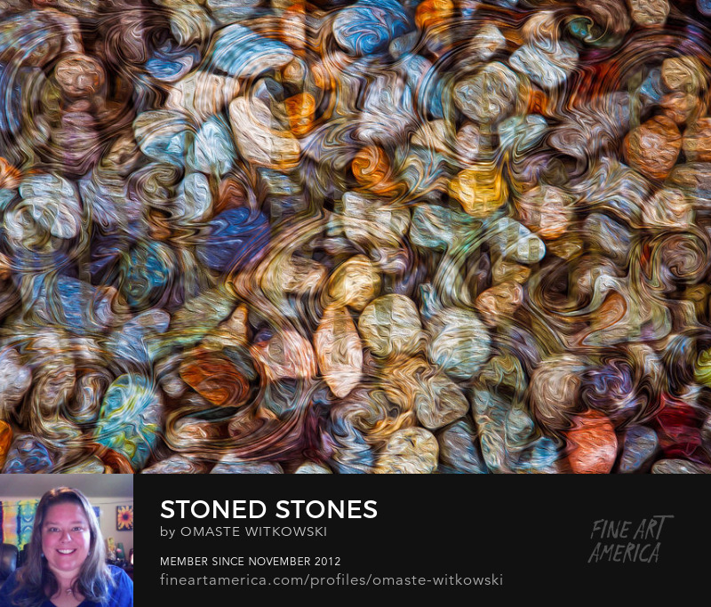 Stoned Stones Textured Abstracts Art Prints