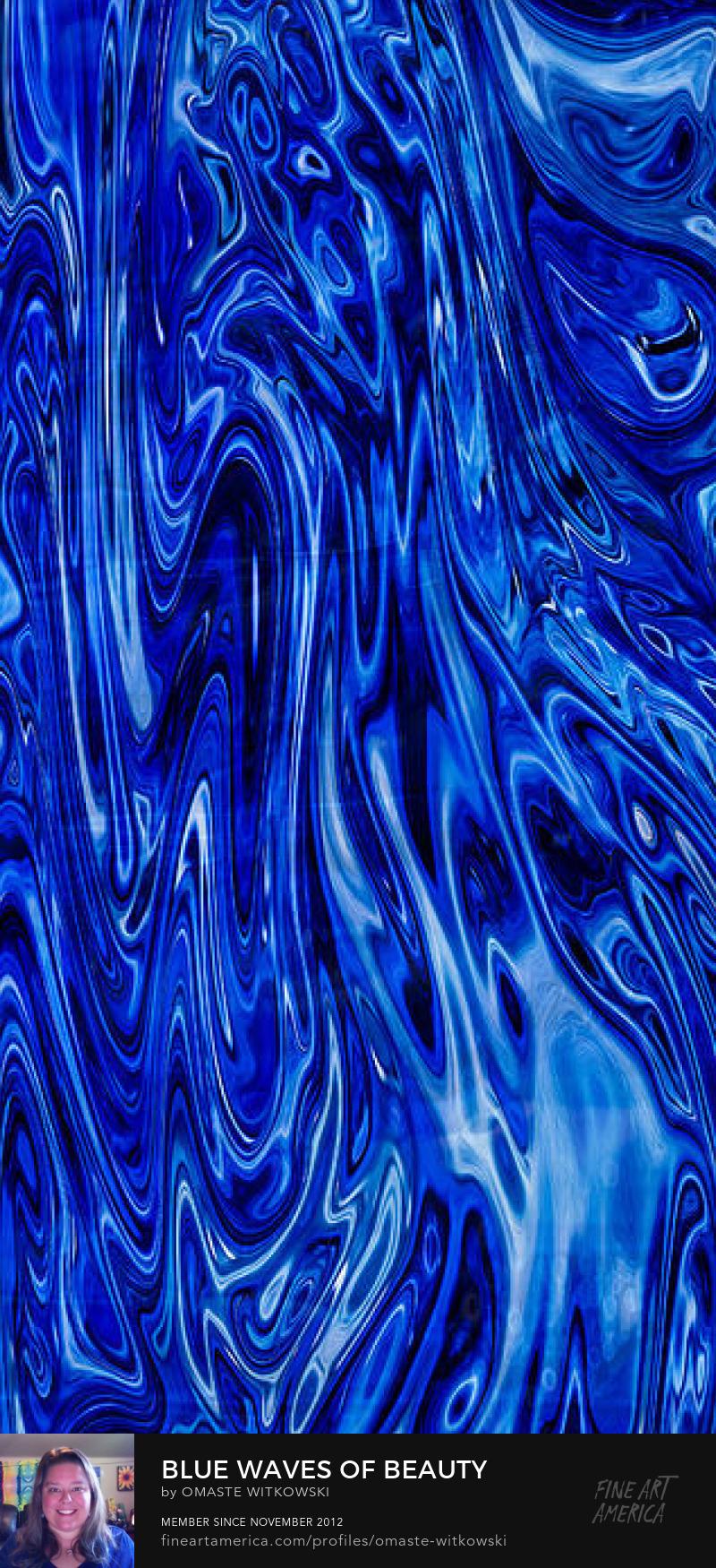 Blue Waves Of Beauty Vivacious Verticals Art Prints