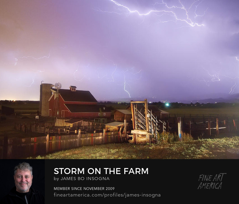 Thunderstorm Down On The Farm Art Photography Prints