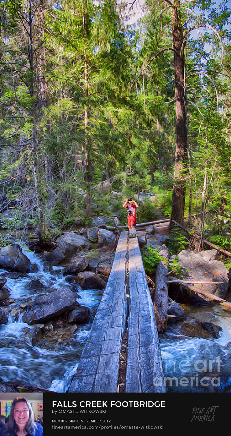 Falls Creek Footbridge Methow Valley Trails