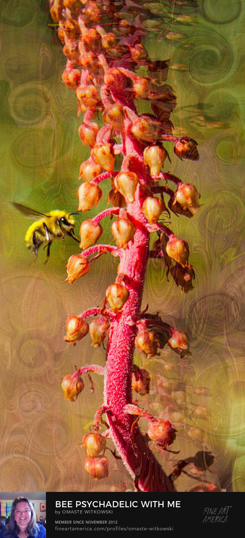 Bee Psychadelic With Me Vivacious Verticals Art Prints