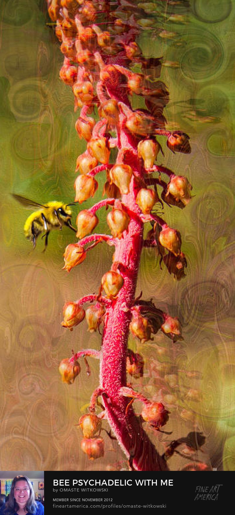 Bee Psychadelic With Me Vivacious Verticals Art Prints