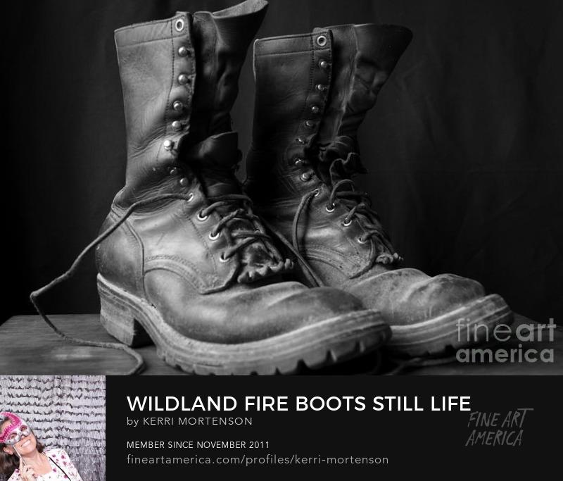 Wildland Fire Boots Still Life photograph by Kerri Mortenson