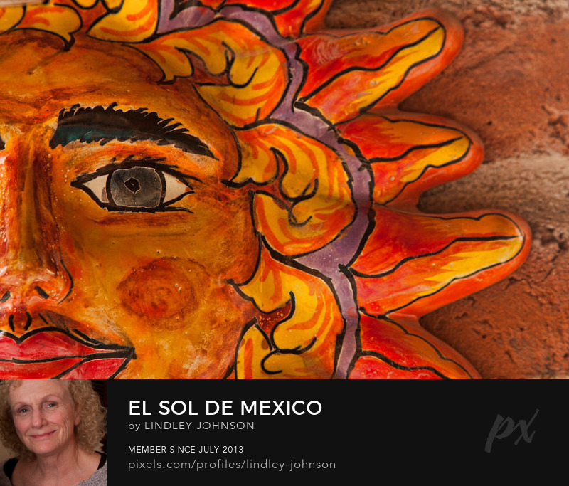 El Sol de Mexico sun photograph by Lindley Johnson
