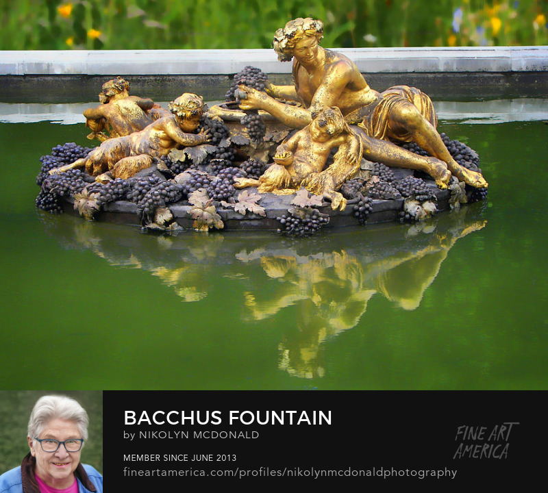 fountain Bacchus Roman god wine gardens Versailles France Nikolyn McDonald