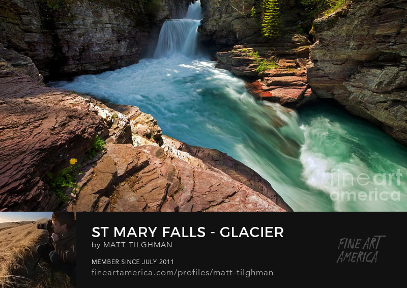 St Mary Falls Glacier National Park Photography Prints