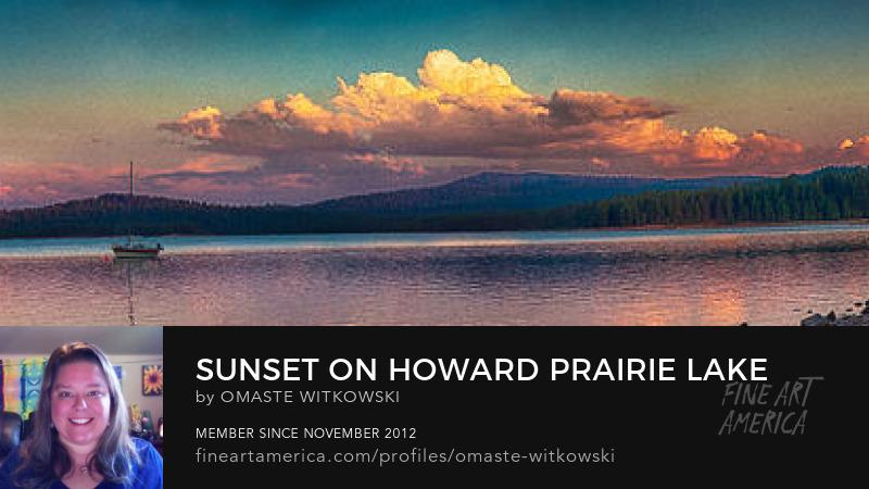 Sunset On Howard Prairie Lake