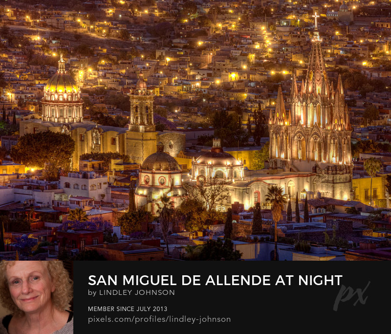 San Miguel de Allende at Night photograph by Lindley Johnson