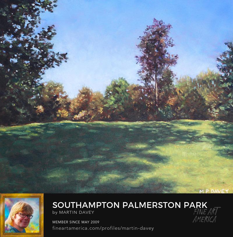 Southampton Palmerston Park Autumn Sun-oil painting