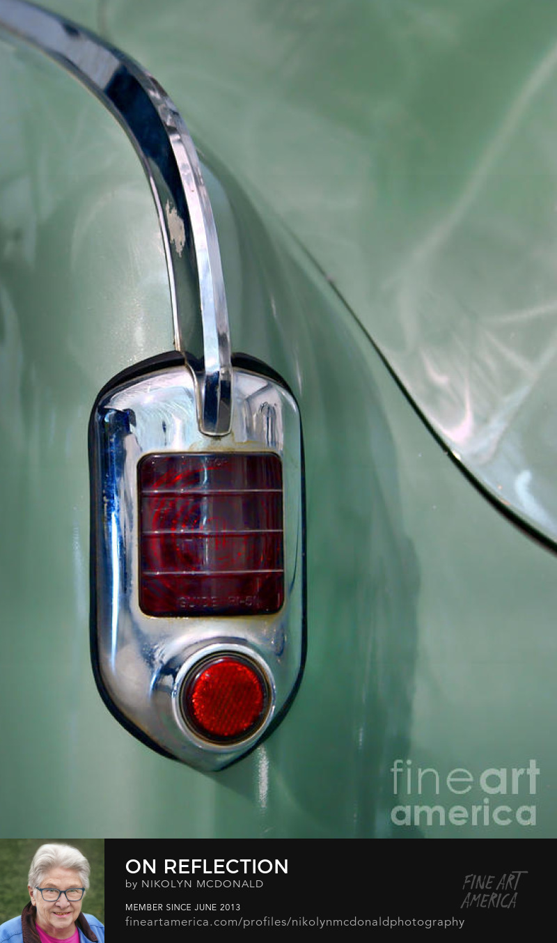green automotive detail taillight photo by Nikolyn McDonald