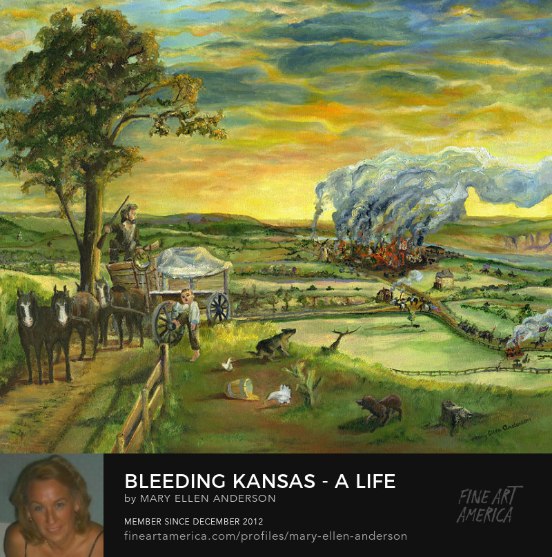 Bleeding Kansas, oil painting by Mary Ellen Anderson