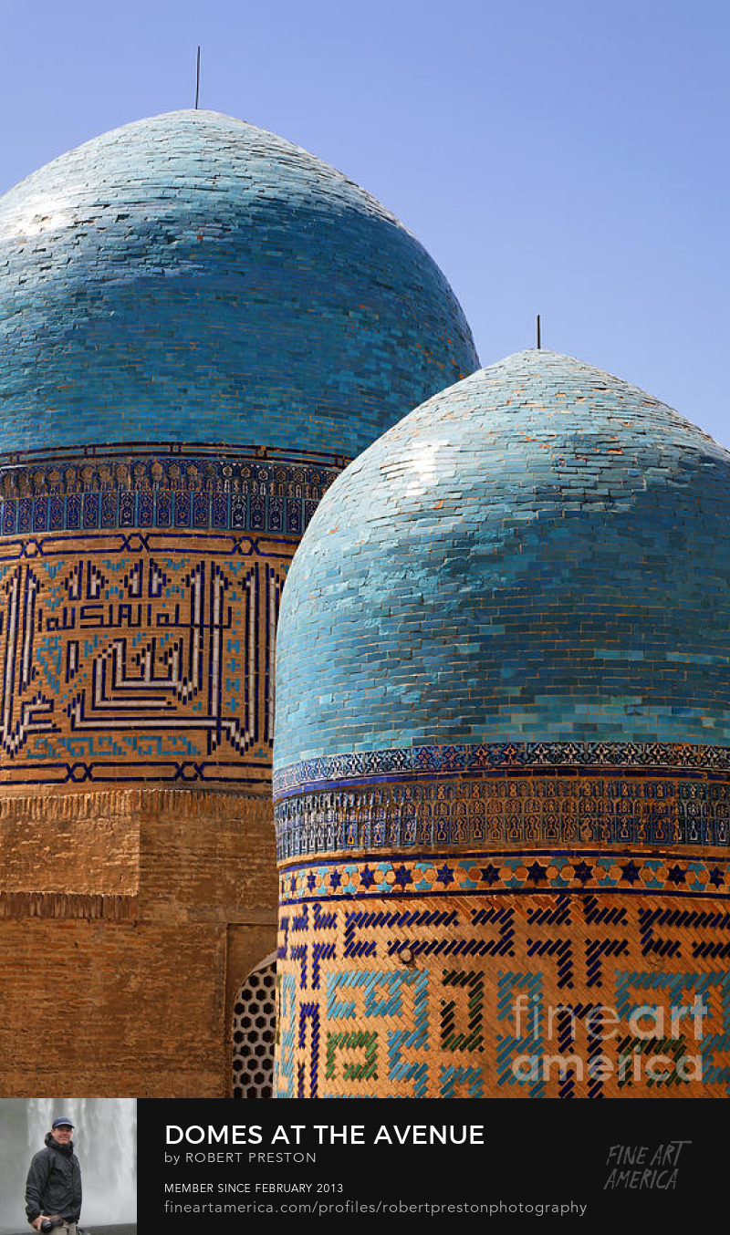 Avenue of Mausoleums Samarkand Uzbekistan