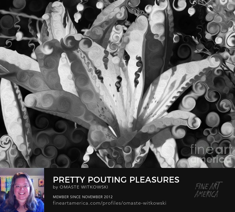 Pretty Pouting Pleasures A Black And White Painting 50 Shades Of Grey Art Prints