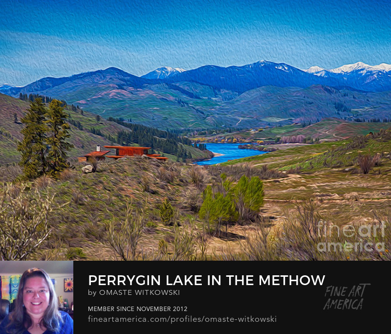 Perrygin Lake in the Methow Valley Architectural Fine Art Photography