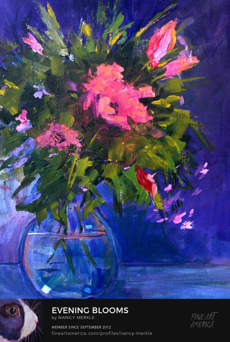 Evening Blooms Painting