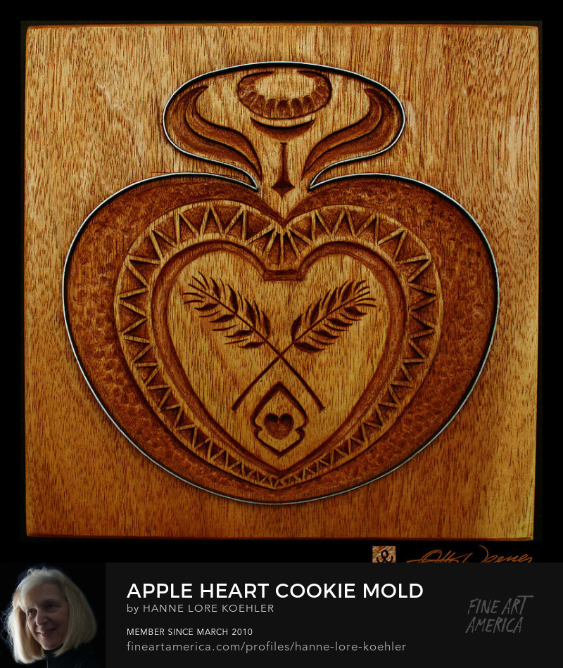 Wood carving cookie mold for kitchen wall decor