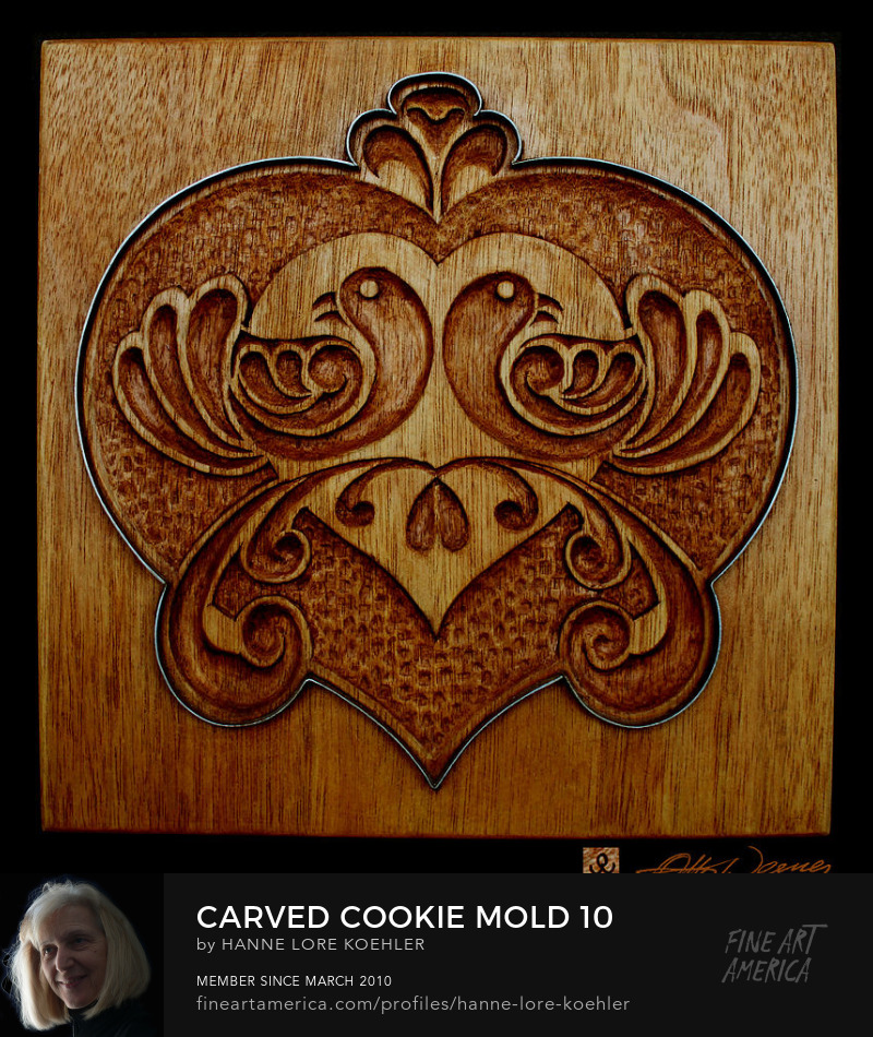 Wood carving cookie mold 10 art print