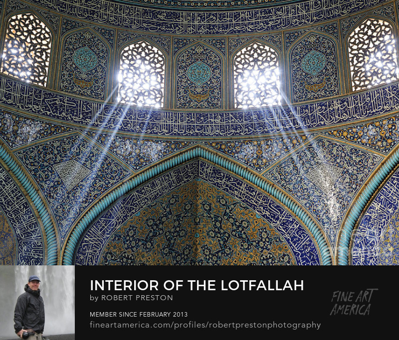 Lotfallah Mosque interior in Isfahan Iran