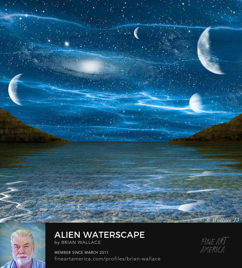 Alien Waterscape by Brian Wallace