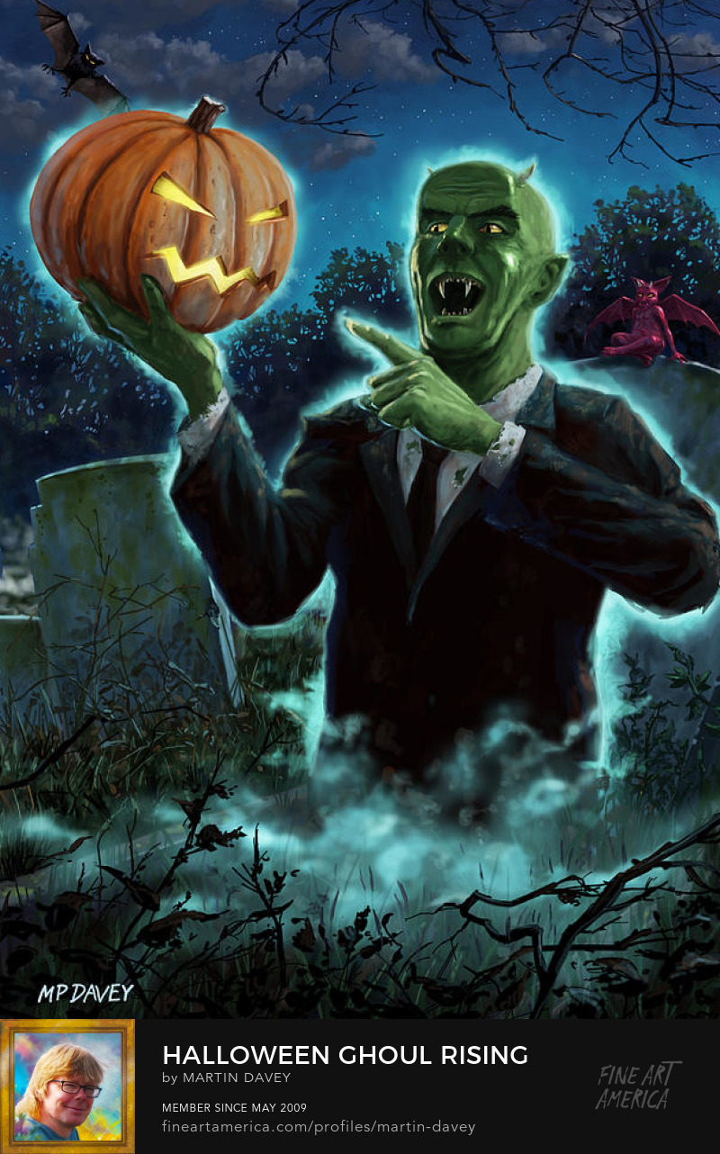 halloween-ghoul-rising-from-grave-with-pumpkin-martin-davey