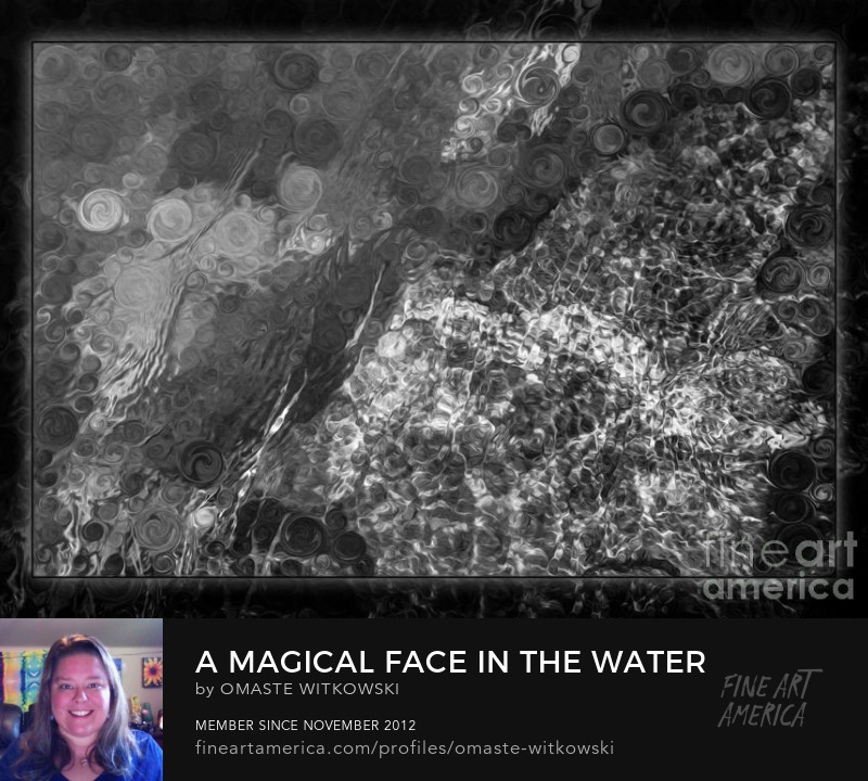 A Magical Face In The Water Abstract Black And White Painting 50 Shades Of Grey Art Prints
