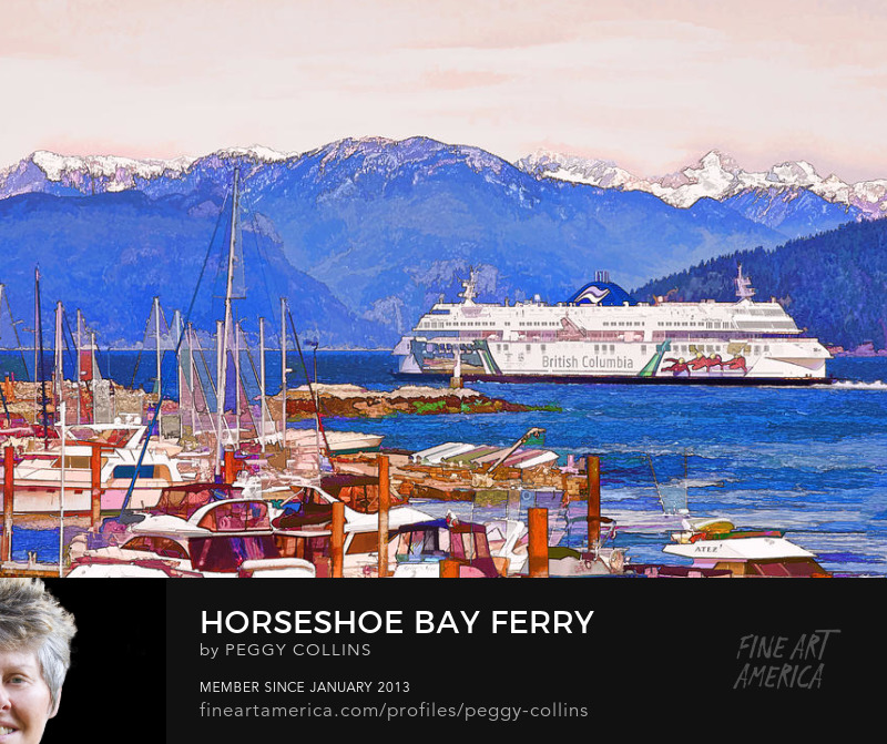 horseshoe bay ferry photograph digital art by Peggy Collins