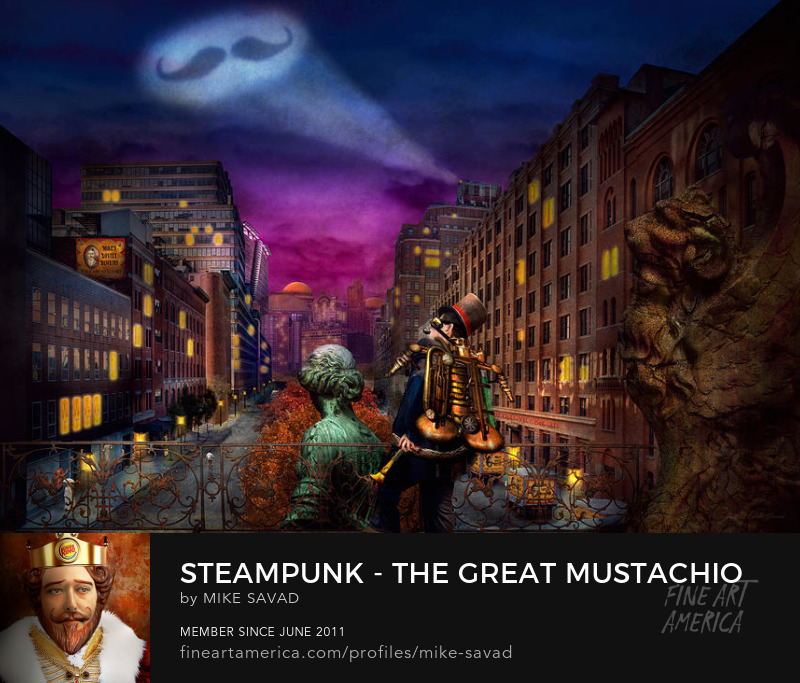 The great mustachio great art Mike Savad