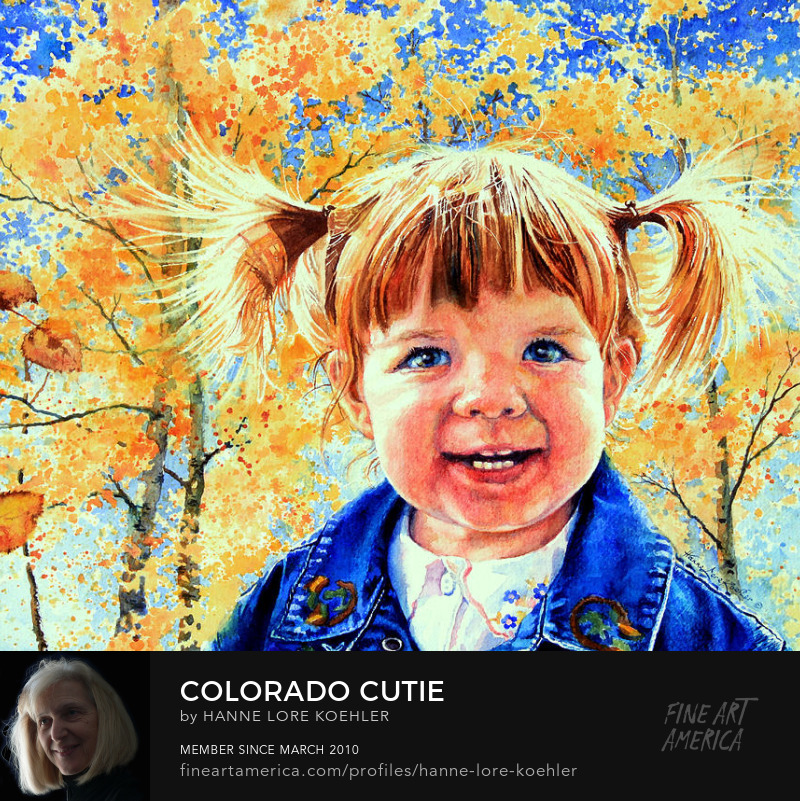 Portrait And Art Prints Of A Little Colorado Girl